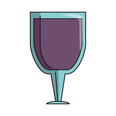 beverage liqueur and drink big cup of wine icon cartoons vector illustration graphic design