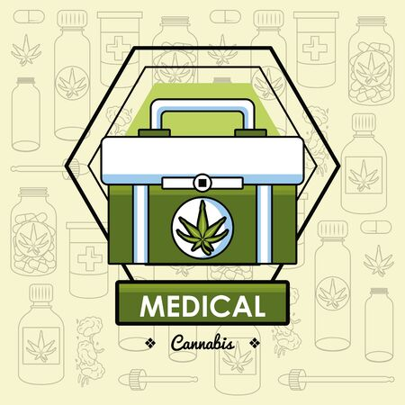 Cannabis medical card natural medicine concept vector illustration graphic design