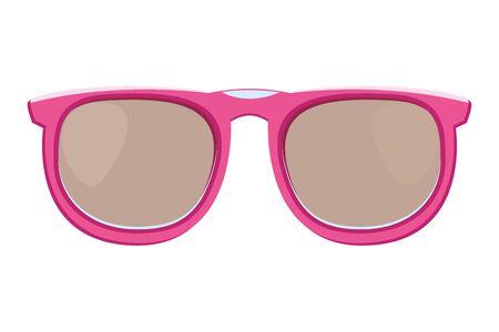 Fashion sunglasses accesory cartoon vector illustration graphic design
