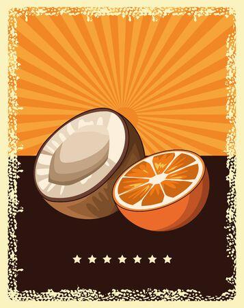 delicious fruits cartoon vector illustration graphic design