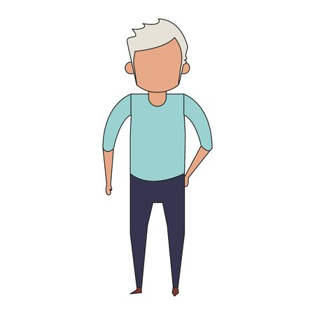 grandparent senior old retirement grandfather cartoon vector illustration graphic design Illustration