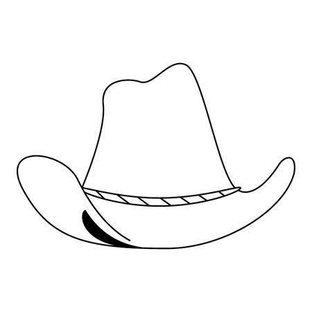 cowboy hat retro classic cartoon vector illustration graphic design