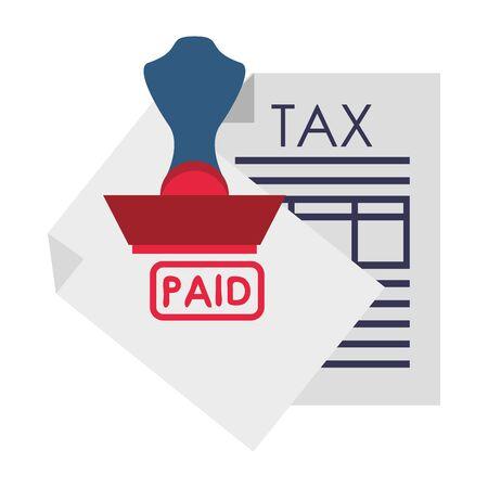 state government tax business balance calculation work personal finance payment elements cartoon vector illustration graphic design Ilustração
