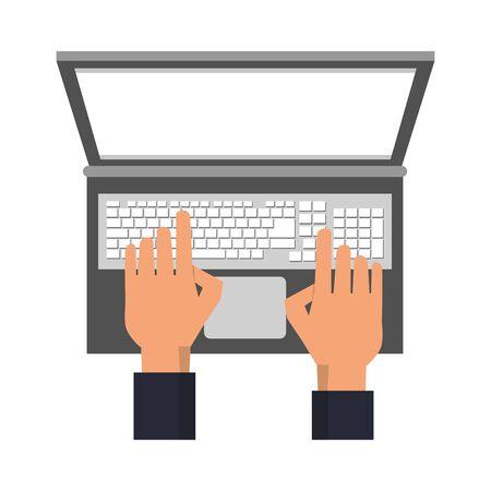 technology hardware digital device computer laptop cartoon vector illustration graphic design
