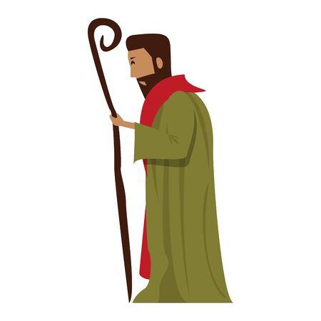 merry christmas nativity christian manger catholic religion december biblical wise man joseph scene cartoon vector illustration graphic design