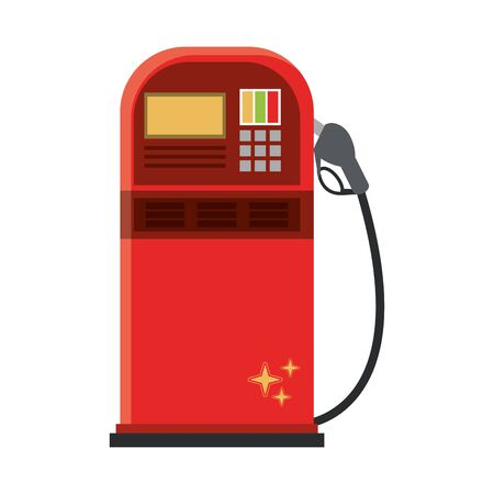 Fuel dispenser machine isolated symbol vector illustration graphic design Banco de Imagens - 129423498