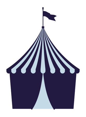 big top circus with flag isolated vector illustration graphic design