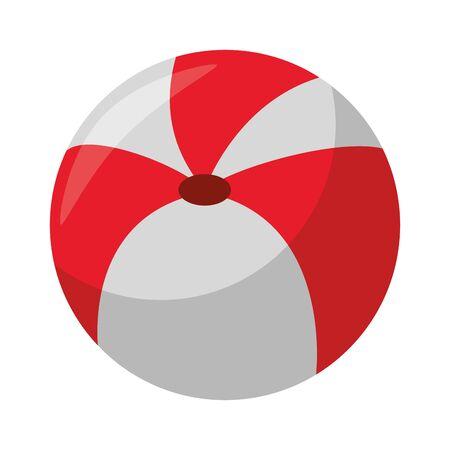 Beach ball summer cartoon isolated symbol vector illustration graphic design 写真素材 - 129423513