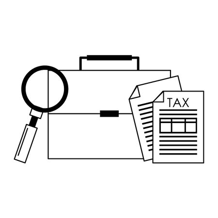 state government tax business balance calculation work personal finance elements cartoon vector illustration graphic design Ilustrace
