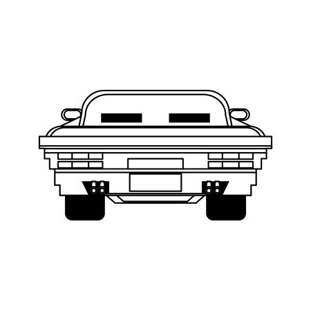 Videogame pixelated racing car frontview symbol vector illustration graphic design 写真素材 - 129423971