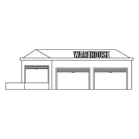 Warehouse storage building empty isolated vector illustration Banco de Imagens - 129424024