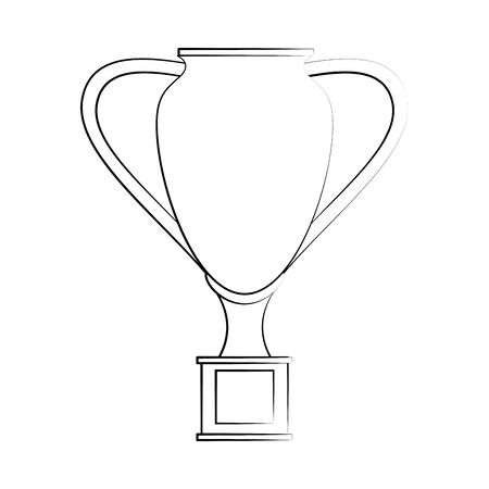 Sport game trophy cup championship symbol vector illustration graphic design Ilustração