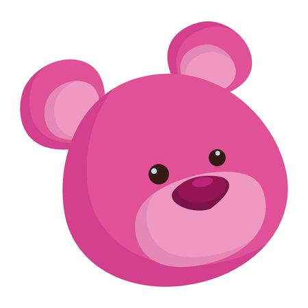 purple teddy bear cartoon symbol isolated vector illustration graphic design Stock Vector - 129424174