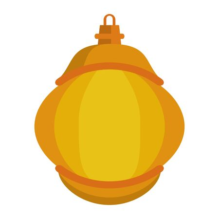 lantern decoration festival golden lamp, arabic and oriental culture cartoon vector illustration graphic design Ilustração
