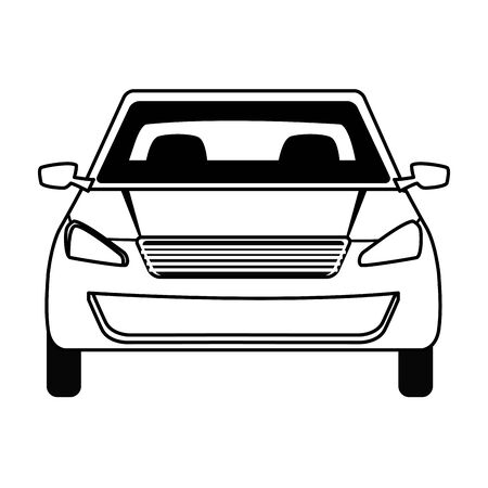 car transport sedan vehicle cartoon vector illustration graphic design
