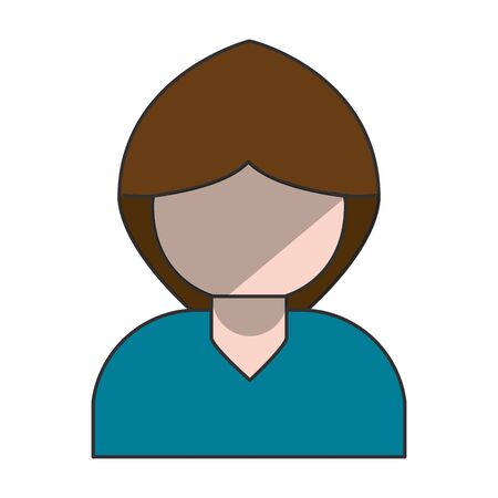 Woman profile cartoon isolated vector illustration graphic design Stock Illustratie