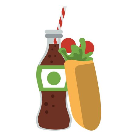 Wrap with cola soda bottle food vector illustration graphic design 일러스트