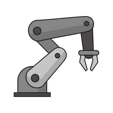 Hydraulic arm technology symbol vector illustration graphic design Иллюстрация