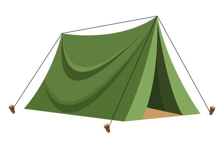 Camping travel tent equipment cartoon ,vector illustration .graphic design.
