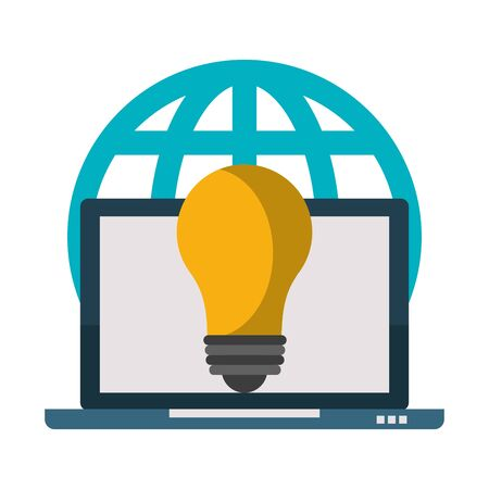 laptop mobile technology hardware wed business idea cartoon vector illustration graphic design