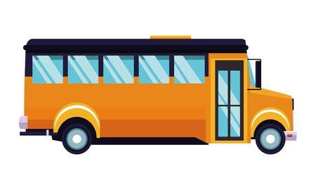 School bus public vehicle sideview ,vector illustration .graphic design.  イラスト・ベクター素材