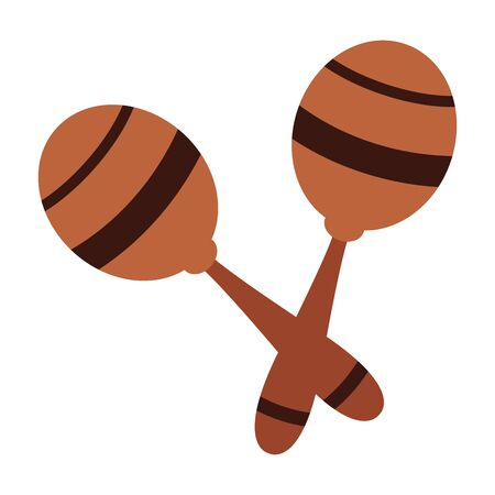 maracas icon cartoon isolated vector illustration graphic design Banque d'images - 129480135
