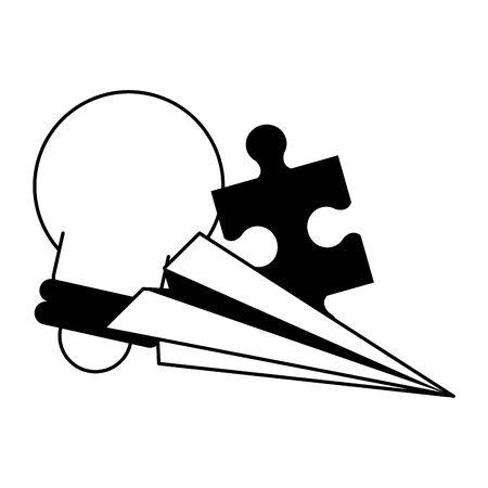 knowledge education idea concept elements cartoon vector illustration graphic design  イラスト・ベクター素材