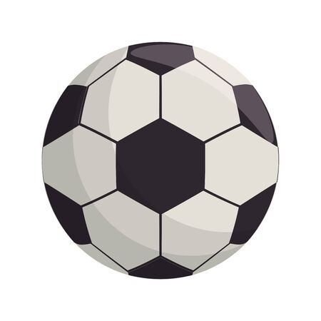 Soccer football ball equipment cartoon isolated vector illustration graphic design