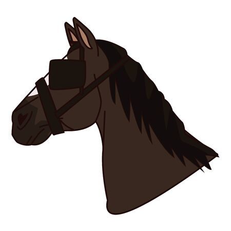Horse head with eye cap cartoon vector illustration graphic design. Foto de archivo - 129472794