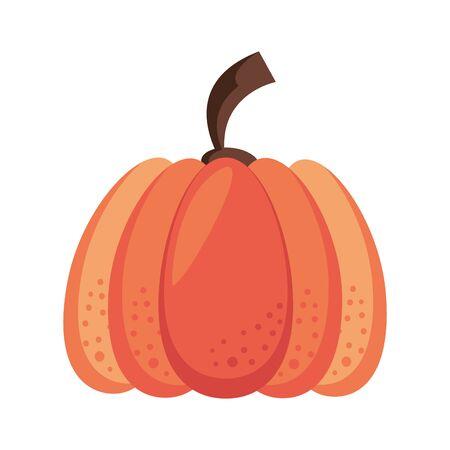 Autumn pumpkin vegetable cartoon vector illustration graphic design 写真素材 - 129531866