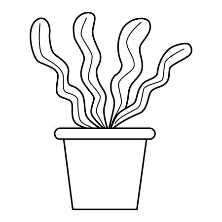 Decorative plant pot cartoon isolated ,vector illustration graphic design.