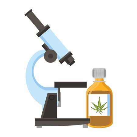 cannabis marijuana medical marijuana medicine sativa hemp buds bottle cartoon vector illustration graphic design Иллюстрация