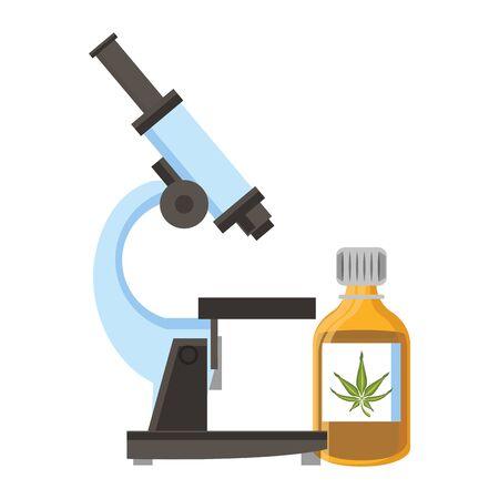 cannabis marijuana medical marijuana medicine sativa hemp buds bottle cartoon vector illustration graphic design Illustration