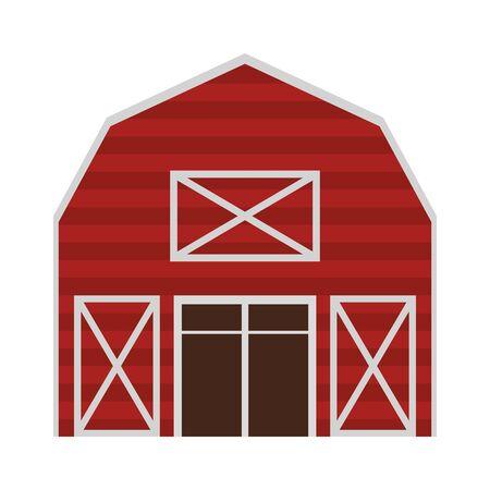 Farm barn wooden building cartoon vector illustration graphic design