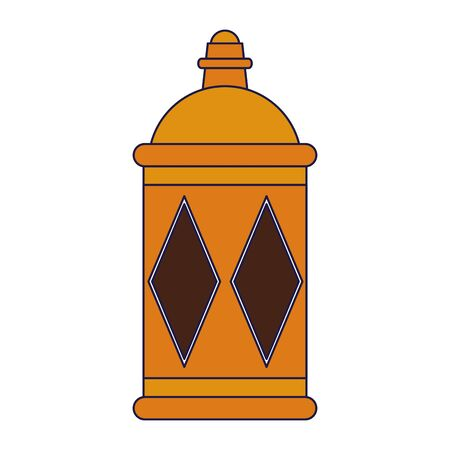 lantern decoration festival golden lamp, arabic and oriental culture cartoon vector illustration graphic design 일러스트