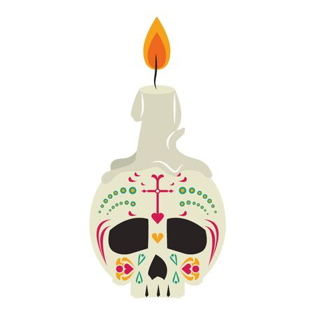 mexican culture mexico festival, dia de los muertos skull cartoon vector illustration graphic design 일러스트