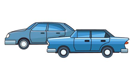 Vintage and classic cars modern vehicles vector illustration graphic design.