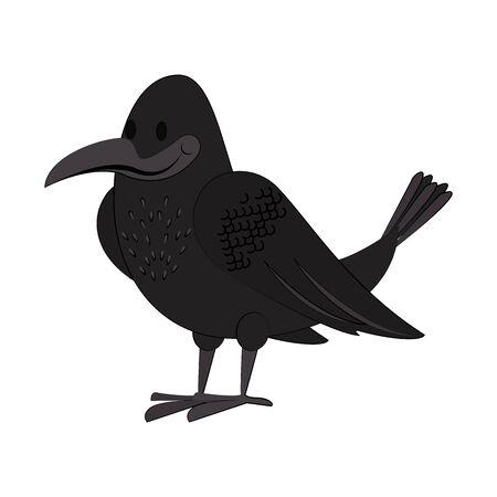 Crown cute bird cartoon isolated vector illustration graphic design Illusztráció