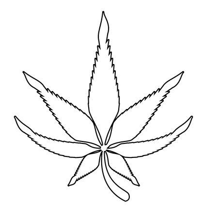 cannabis marijuana medical marijuana sativa hemp plant cartoon vector illustration graphic design