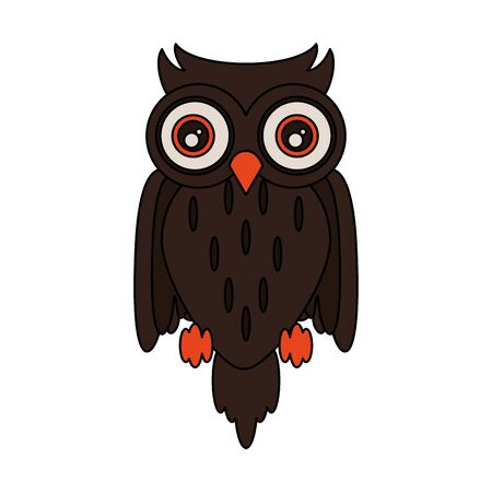 halloween october scary celebration owl isolated cartoon vector illustration graphic design