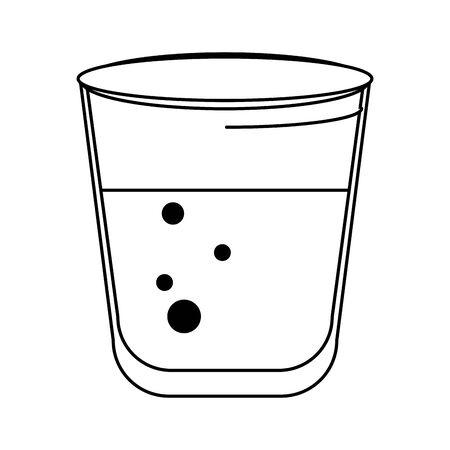 water liquid beverage drink glass cartoon vector illustration graphic design Stock Illustratie