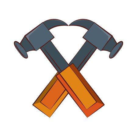 engineering construction factory industry, heavy work tools hammers equipment isolated cartoon vector illustration graphic design Иллюстрация