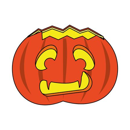 halloween october scary celebration pumpkin isolated cartoon vector illustration graphic design