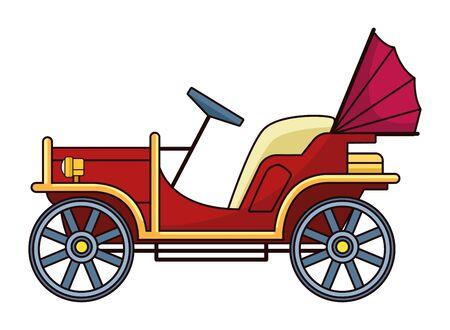 Classic antique car retro vehicle vector illustration graphic design. Vettoriali