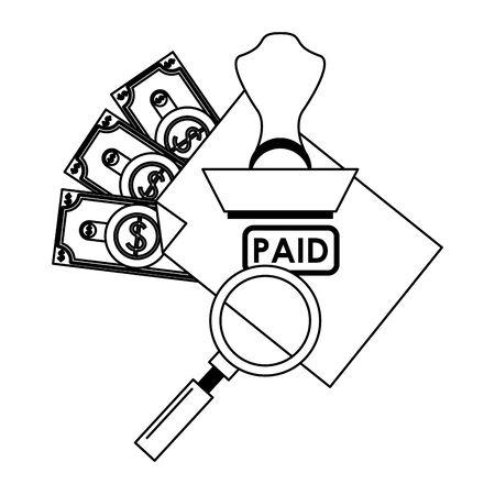 saving money business personal finance balance payment calculate elements cartoon vector illustration graphic design  イラスト・ベクター素材