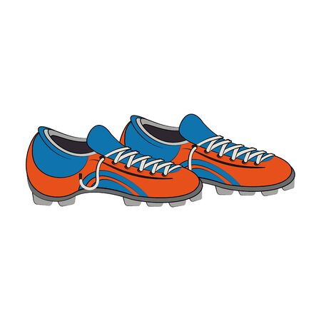 Soccer footwear boots game equipment vector illustration graphic design Illusztráció