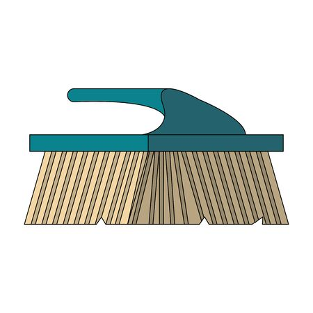 Cleaning brush for floor isolated symbol vector illustration graphic design.