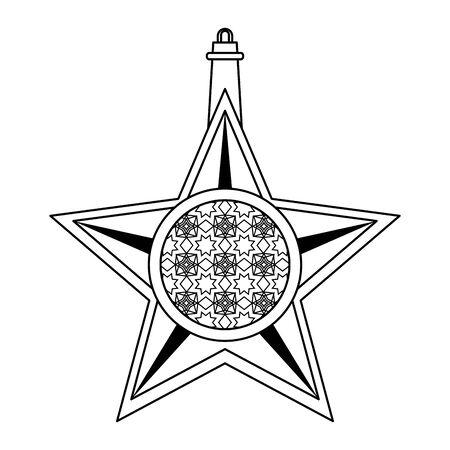 lantern decoration festival golden star lamp, arabic and oriental culture cartoon vector illustration graphic design