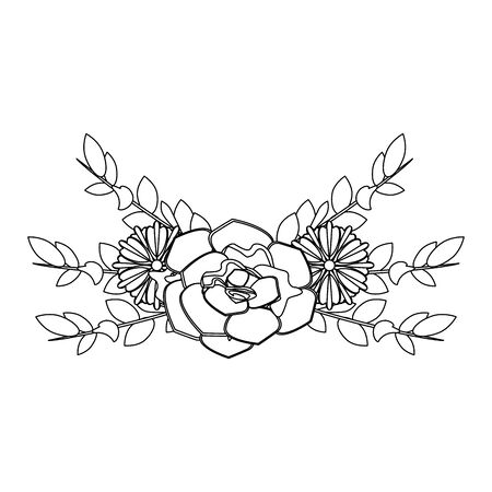 flowers tropical spring floral cartoon vector illustration graphic design