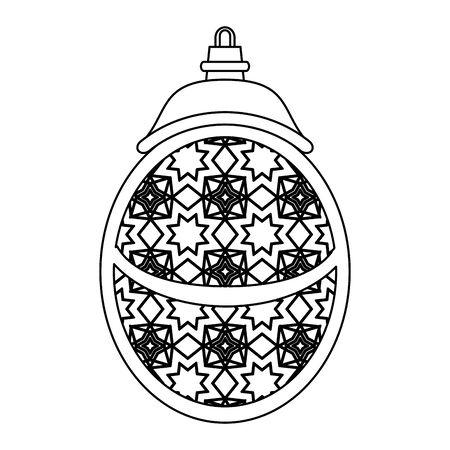 lantern decoration festival golden lamp, arabic and oriental culture cartoon vector illustration graphic design Çizim